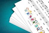 Sheet Music: Ring Around the Rosy Children's Rhyme