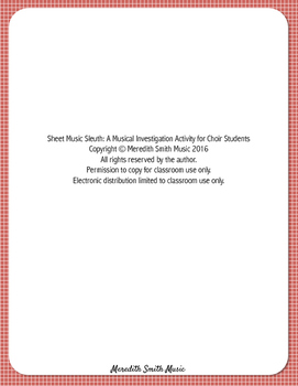 Sheet Music Sleuth: A Musical Investigation Activity for Choir Students