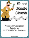 Sheet Music Sleuth: A Musical Investigation Activity for I