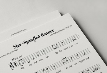 Sheet Music: The Star-Spangled Banner (US National Anthem)