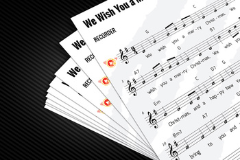 Recorder Sheet Music: We Wish You a Merry Christmas (Christmas Tune)