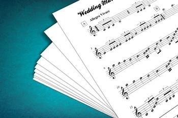 Sheet Music: Wedding March (Felix Mendelssohn)