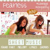 Sheet music - Fearless empowering acoustic pop song