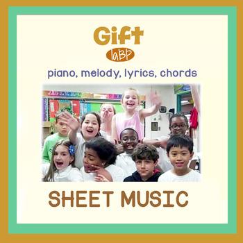Sheet Music: Gift Appreciation Pop Song