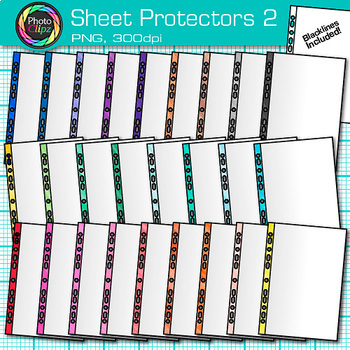 Sheet Protector Clip Art Bundle | Back to School Supplies for Teachers