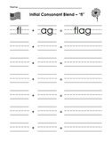 Sheets and Letter Tiles for Initial Consonant Blends fl, f