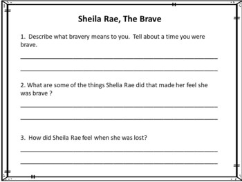 Sheila Rae, The Brave     by Kevin Henkes   50 pgs Common Core Activities
