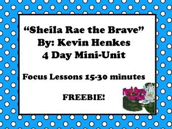 Sheila Rae the Brave Mini-Unit- NO-PREP Book Study