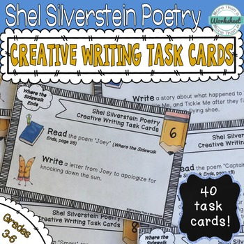 Shel Silverstein Creative Writing Task Cards