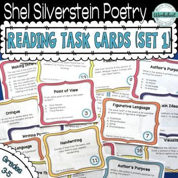 Shel Silverstein Poetry Task Cards (Set 1)