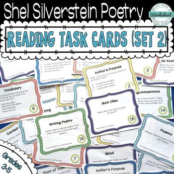 Shel Silverstein Poetry Task Cards (Set 2)