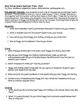 Shel Silverstein's Sick Poem Socratic Seminar Plan