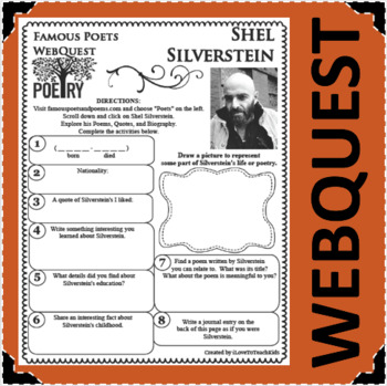 Shel Silverstein - WEBQUEST for Poetry - Famous Poet
