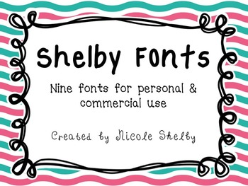 Shelby Fonts- Personal and Commercial Use {Freebie}