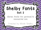 Shelby Fonts: Set 2- Personal and Commercial Use {Freebie}