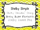 Shelby Fonts: Set 3- Personal and Commercial Use {Freebie}