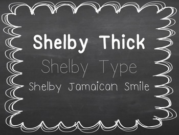Shelby Fonts: Set 4- Personal and Commercial Use {Freebie}