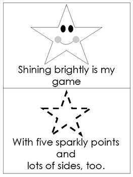Shelby Star Printable Mini Book. Preschool-Kindergarten 2-D Shapes.