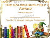 Shelf Elf Award Certificate