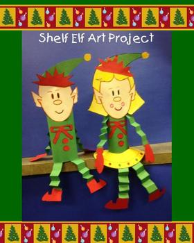 Shelf Elf Christmas Art Project