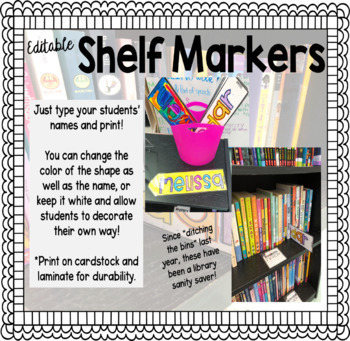 Shelf Markers - Editable