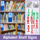 Shelf Signs for School Library Sections Using Recycled Magazine File Boxes