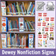 Shelf Signs for School Library Sections Using Recycled Mag