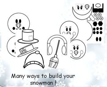 "Shelf Snowman Art Project / Booklet ""If I Build a Snowman Book""and PowerPoint"