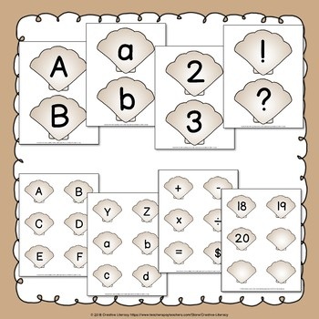 Shell Alphabet & Number Cards