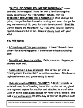 """""""She'll Be Comin' Round the Mountain!"""" - Active Group Game with a Steady Beat!"""