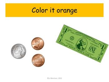 Shell Counting Coins Practice - Watch, Think, Color!