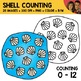 Shell Counting Scene Clipart