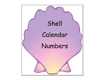 Shell Number Cards/Calendar Cards