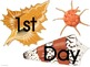 Seashell Picture Frame Attachments First Day, 100th Day, &