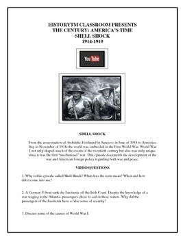 Shell Shock - The Century America's Time video worksheet