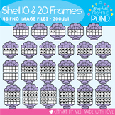 Shell Ten and Twenty Frame Clipart