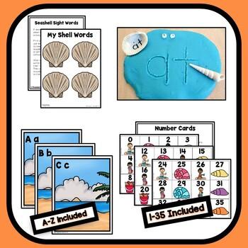 Shell Theme Preschool Lesson Plans - Ocean Activities