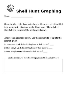Beach Word Problem and Bar Graph Activity