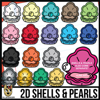 Shell and Pearl Clip Art