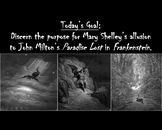 Shelley's Frankenstein and Milton's Paradise Lost