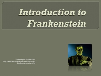 Shelley's Frankenstein Novel Unit Bundle
