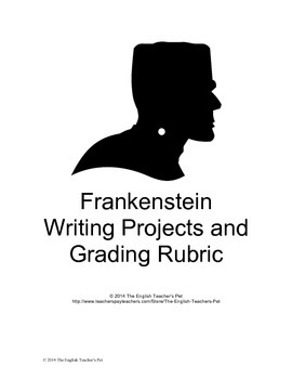 Shelley's Frankenstein Writing and Media Projects with Rubric