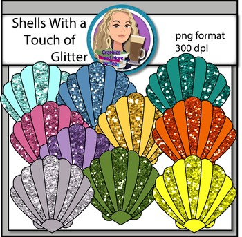 Shells With a Touch of Glitter Clipart