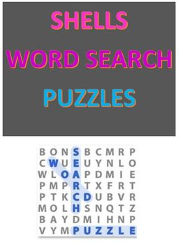 Shells Word Search Puzzles