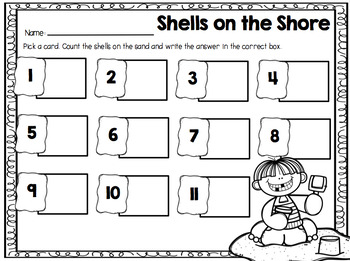 Shells on the Shore {A Counting Centre} USA Version