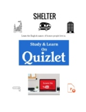 """Shelter.  Vocabulary about where people call """"home"""". ESL. EFL."""