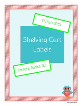 Shelving Cart Labels