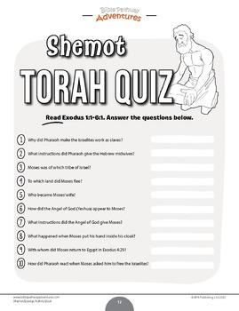 Shemot | Exodus Torah Portions Activity Book