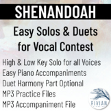 Shenandoah - Easy Solos & Duets for Vocal Contest (High &