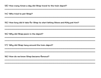 Shep Comprehension Questions